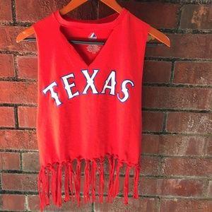 Women's Fringe Napoli Texas Rangers Custom Shirt